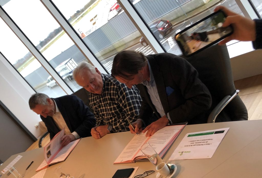 Signature accord Liège Airport Graine de vie
