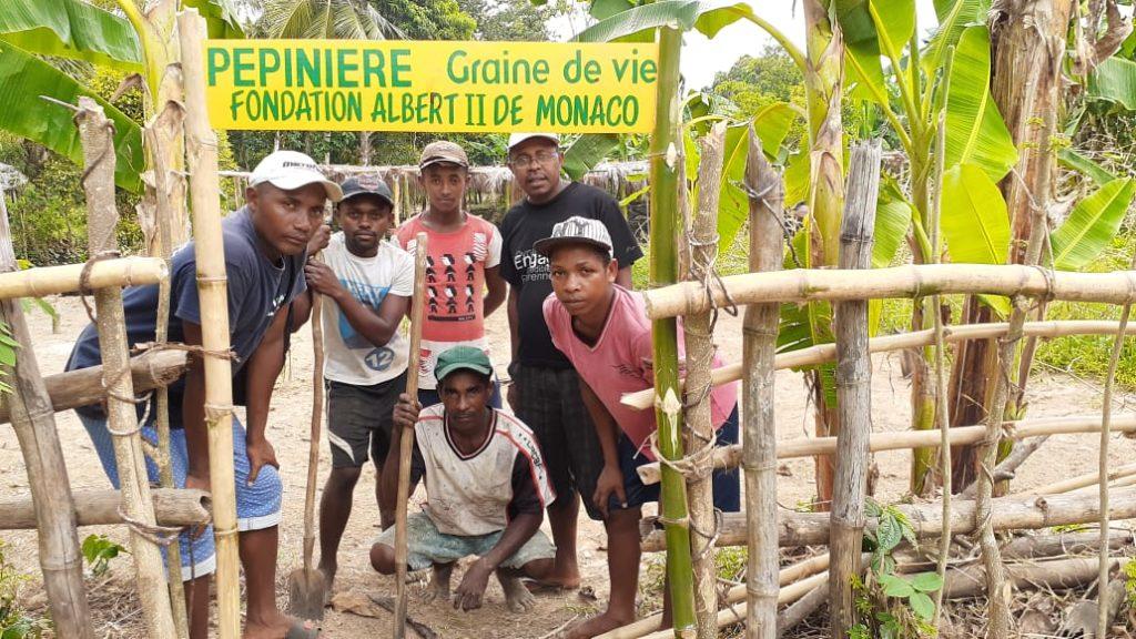 Notre staff à la pépinière centrale de Maroantsetra- Mahalevona