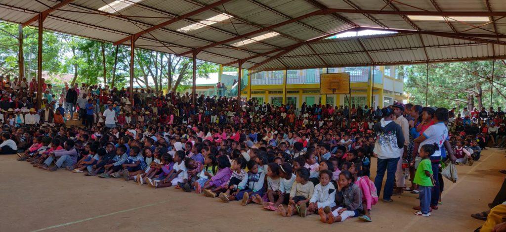 Journée de sensibilisation au village du père Pedro
