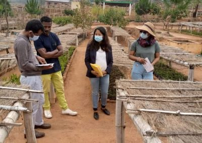 Visite à notre pépinière centrale d'Antananarivo